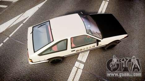 Toyota AE86 Tofu for GTA 4 right view