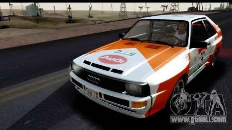 Audi Sport Quattro B2 (Typ 85Q) 1983 [HQLM] for GTA San Andreas bottom view