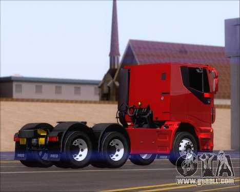 Iveco Stralis HiWay 6x4 for GTA San Andreas right view