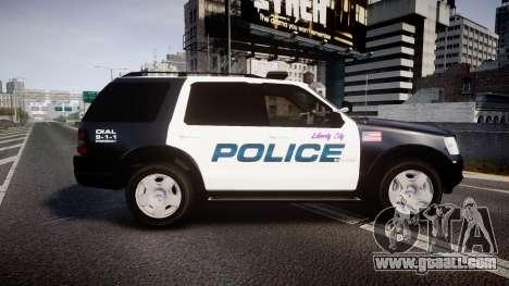 Ford Explorer 2008 Police [ELS] for GTA 4 left view