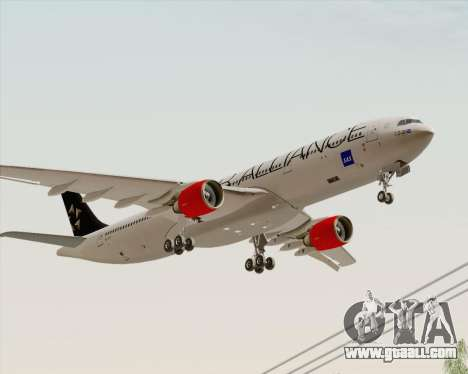Airbus A330-300 SAS Star Alliance Livery for GTA San Andreas back left view