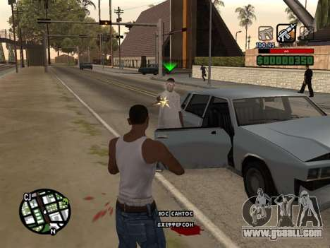 Comfortable C-HUD for GTA San Andreas
