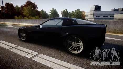 Chevrolet Corvette Z06 Unmarked Police [ELS] for GTA 4 left view