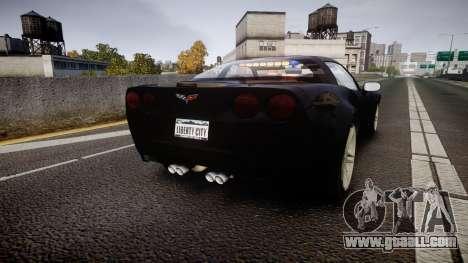 Chevrolet Corvette Z06 Unmarked Police [ELS] for GTA 4 back left view