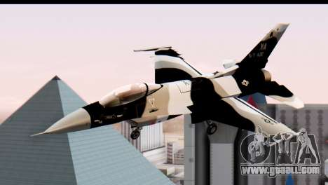 F-16 Aggressor Squadron Alaska Black Camo for GTA San Andreas back left view