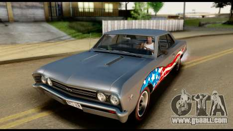 Chevrolet Chevelle SS 396 L78 Hardtop Coupe 1967 for GTA San Andreas bottom view