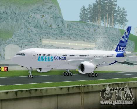 Airbus A330-200 Airbus S A S Livery for GTA San Andreas back left view