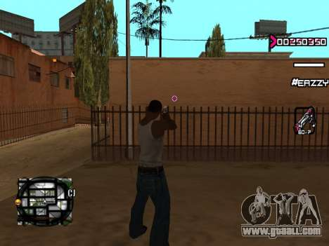 C-HUD WanTed for GTA San Andreas third screenshot