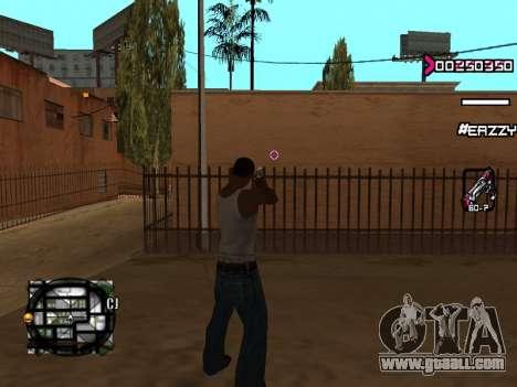 C-HUD WanTed for GTA San Andreas third screenshot