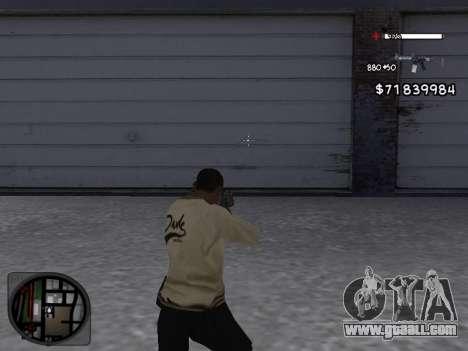 C-HUD White for GTA San Andreas second screenshot