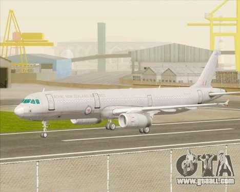 Airbus A321-200 Royal New Zealand Air Force for GTA San Andreas back view