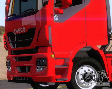 Iveco Stralis HiWay 6x4 for GTA San Andreas back view