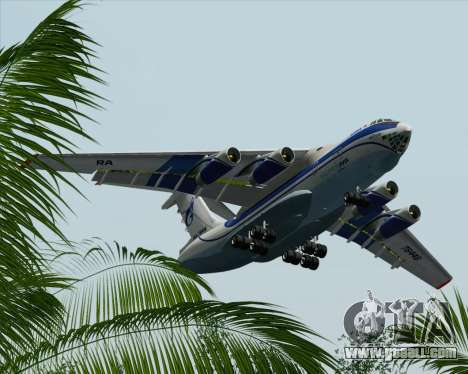 IL-76TD Gazprom Avia for GTA San Andreas bottom view