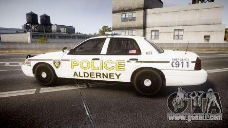 Ford Crown Victoria Police Alderney [ELS] for GTA 4 left view