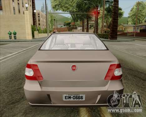 Fiat Siena 2008 for GTA San Andreas back view