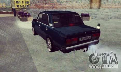 VAZ 2107 Seven-ty for GTA San Andreas back left view