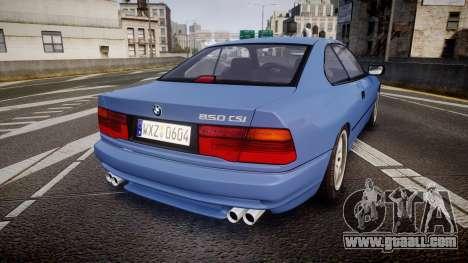 BMW E31 850CSi 1995 [EPM] for GTA 4 back left view