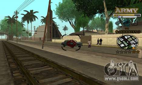 C-HUD Army for GTA San Andreas fifth screenshot