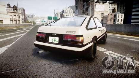 Toyota AE86 Tofu for GTA 4 back left view