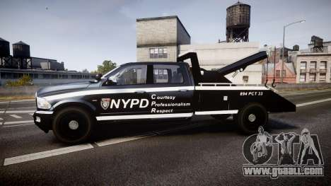 Dodge Ram 3500 NYPD [ELS] for GTA 4 left view