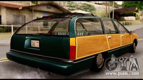 Elegant Station Wagon with Wood Panels for GTA San Andreas left view