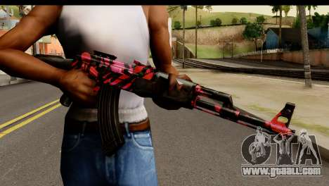 Red Tiger AK47 for GTA San Andreas third screenshot