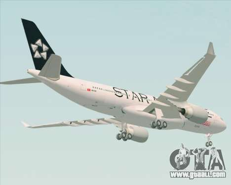 Airbus A330-200 SWISS (Star Alliance Livery) for GTA San Andreas back left view