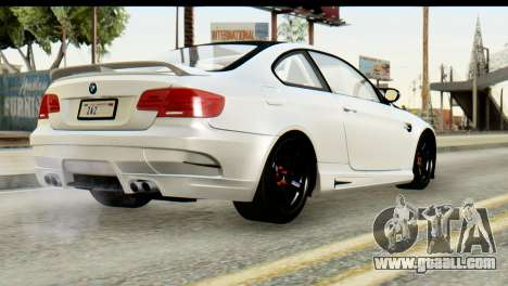 BMW M3 GTS Tuned v1 for GTA San Andreas inner view