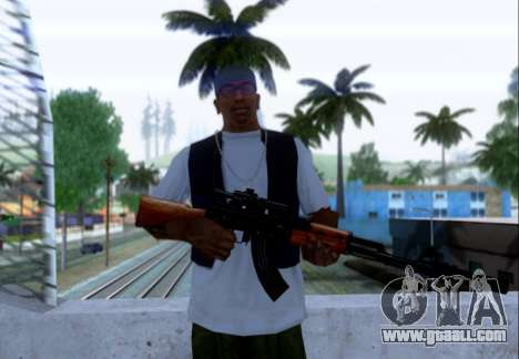 Akmn with CBE for GTA San Andreas