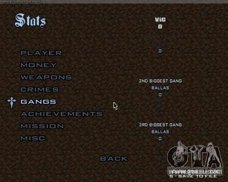 Minecraft Menu for GTA San Andreas