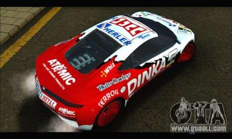 Dinka Jester Racear (GTA V) for GTA San Andreas inner view