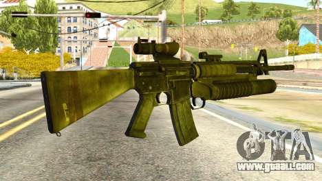 Assault Rifle from Global Ops: Commando Libya for GTA San Andreas second screenshot
