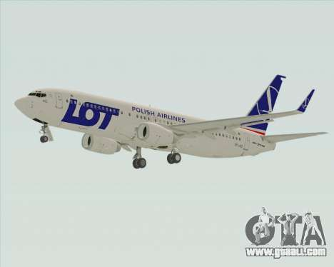 Boeing 737-800 LOT Polish Airlines for GTA San Andreas back view
