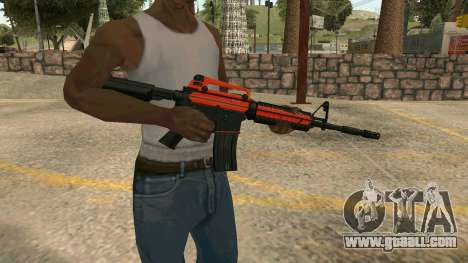 Orange M4A1 for GTA San Andreas