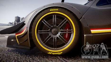 Pagani Zonda Revolution 2013 for GTA 4 back view