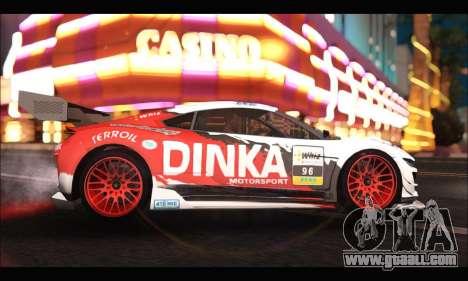 Dinka Jester Racear (GTA V) for GTA San Andreas left view