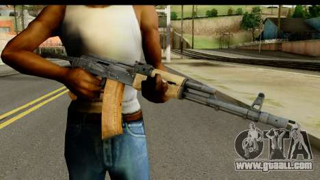 AKS-74 Light Wood for GTA San Andreas third screenshot