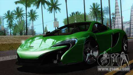 McLaren 650S Spider 2014 for GTA San Andreas right view