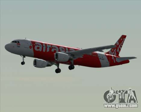 Airbus A320-200 Indonesia AirAsia for GTA San Andreas bottom view