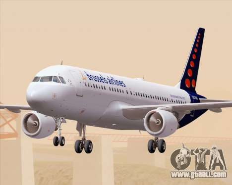 Airbus A320-200 Brussels Airlines for GTA San Andreas interior