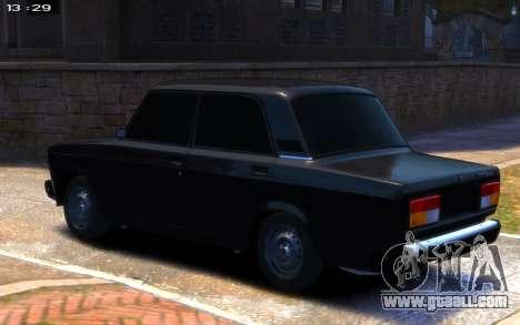 VAZ 2107 R13 for GTA 4 left view