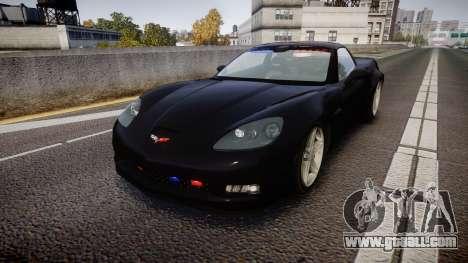 Chevrolet Corvette Z06 Unmarked Police [ELS] for GTA 4