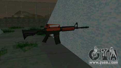 Orange M4A1 for GTA San Andreas third screenshot