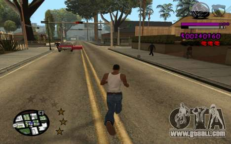 C-HUD by LoMoKo for GTA San Andreas second screenshot