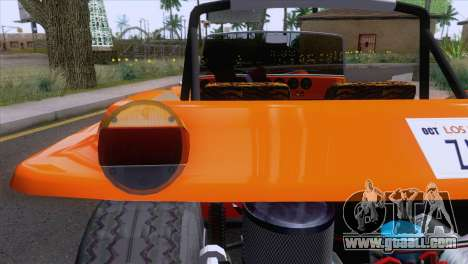 Volkswagen Dune Buggy 1975 for GTA San Andreas back view