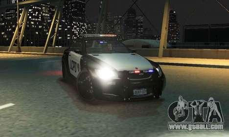 GTA V Ubermacht Sentinel Police [ELS] for GTA 4 back left view