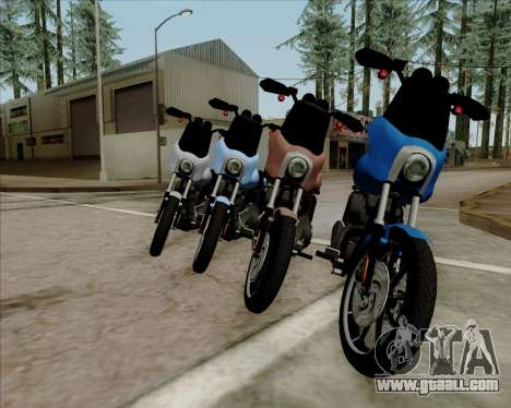 Harley-Davidson FXD Super Glide T-Sport 1999 for GTA San Andreas right view