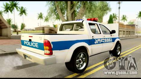 Toyota Hilux Georgia Police for GTA San Andreas left view