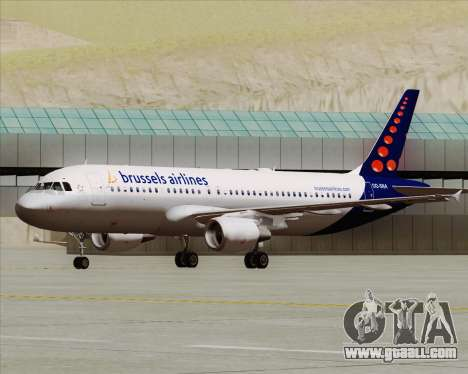 Airbus A320-200 Brussels Airlines for GTA San Andreas left view