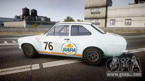 Ford Escort RS1600 PJ76 for GTA 4 left view